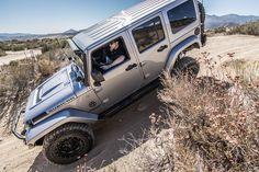 Nice Jeep Rubicon semi-nose dive position