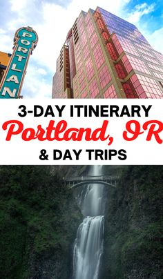 How to spend 3 days in Portland Oregon with tips of where to eat, stay and the top Portland attractions include nature and hikes. Don't miss a single thing to do with our epic Portland itinerary. Usa Travel Guide, Travel Usa, Travel Guides, Travel Tips, Oregon Travel, Florida Travel, California Travel, Beautiful Places To Visit, Cool Places To Visit
