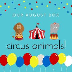 OUR AUGUST BOX HAS BEEN ANNOUNCED: CIRCUS ANIMALS! This month we have a fun and educational box all about the circus and its animals! There are so many fun activities for your monkey to do both on their own and with a parent. Each box includes: x MAKE your very own craft to display or give as a gift x CREATE animal pictures with these fun stickers x CREATE circus themed activity book. x READ all about some fun circus animals x PLAY with this great game set to test your memory x A recipe card…
