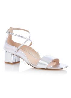 Dina sandaal van leer met metallic finish l.k. bennett