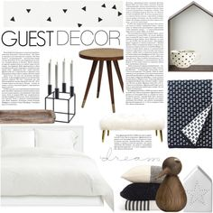 Guest Bedroom - Monochrome Rustic Modern