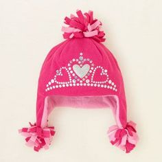 baby girl - accessories - crown microfleece hat | Children's Clothing | Kids Clothes | The Children's