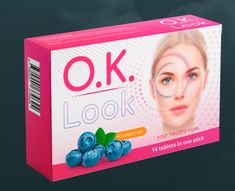OK Look - Dietary supplement in the form of capsules aiming to improve vision and the overall eye health state. Active ingredients: blueberries, lutein, and zeaxanthin. In one package there are 10 capsules for 10 intakes. Recommended durability of the course to see results is 1 month. Healthy Eyes, 1 Month, Health Products, Active Ingredient, Blueberries, Creative Art, Thing 1, Design, Berry