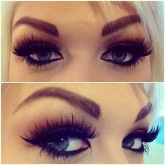 her lashes and brows are amazing