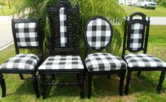 Made to Order Set of 4 Custom Dining Chairs by JilliannMae on Etsy, $499.00