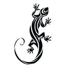 Lizard Temporary Tattoo - Brilliant Promos - Be Brilliant!Tribal Lizard Temporary Tattoo - Brilliant Promos - Be Brilliant! Insect Tattoo, Gecko Tattoo, Lizard Tattoo, Hawaiianisches Tattoo, Yakuza Tattoo, Tattoo Shop, Tattoo Drawings, Thai Tattoo, Maori Tattoos