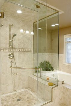 Traditional/Contemporary Travertine Bathroom - traditional - bathroom - portland - Kirstin Havnaer, Hearthstone Interior Design, LLC