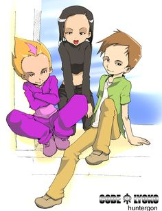 """""""Code Lyoko by hunterGON by Code-Lyoko-Club on DeviantART"""" -- Wouldn't it be cool to have friends like these? And we're not forgetting Jeremie or Aelita, either."""