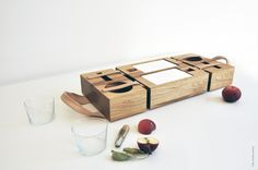 Box Couture by Dombon-a-tanya, via Behance Box Couture, Picnic Box, Made Of Wood, Box Packaging, Bath Caddy, Budapest, Lunch Box, House Design, Set Design