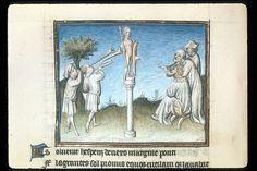 Publius Papinius Statius Thebais , with the argumenta antiqua; Achilleis, Francja, ok. 1405, f45