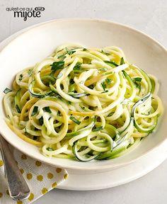Salade de spaghettis de courgette #recette