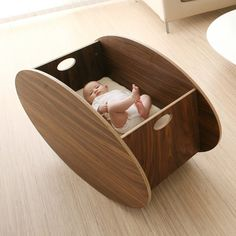 So Ro Contemporary Cradle In Walnut