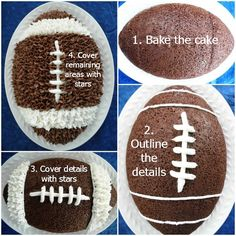 Get your game on with this dark chocolate football cake! Some people have mentioned it's the best chocolate cake recipe they've had yet. It's so moist, chocolaty, and delicious. Bakerette.com