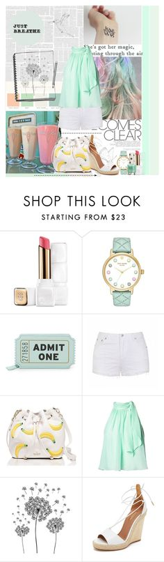 """""""Milkshake"""" by amethystes ❤ liked on Polyvore featuring Guerlain, Kate Spade, Ally Fashion, Matthew Williamson, jcp, Aquazzura, pastel and mint"""