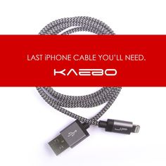 Kaebo is an aluminum and cloth braided iPhone 5 Lightning cable that is MFI (Made for iPhone) and Apple certified. That means, there are no more codes, no more error messages on your phone from buying cheap cables. On to of being a MFI cable, Kaebo is constructed out of aircraft aluminum on the ends and the cable is insulated out of rubber with a cloth braided sleeve to prevent tears and rips.