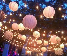 Paper wedding lanterns. www.planitcfl.com