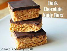 Amee's Savory Dish: Dark Chocolate Nutty Bars (Paleo-friendly)