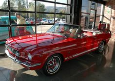 1965 Ford Mustang 289 convertible - red & white - fvl by Pat Durkin - Orange County, CA, via Flickr