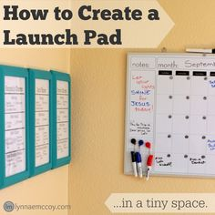 Every home should have a launch pad, but what if you don't have a large entryway? Here's how I created a launch pad and family command center in two 3'x3' corners.