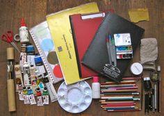 'My Art Kit...!' (via Fixie's Shelf)
