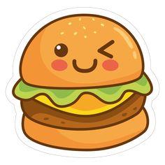 Hamburger 02 - Todos os nossos autocolantes são produzidos com materiais e tintas de alta qualidade e durabilidade - chimpstickers.com