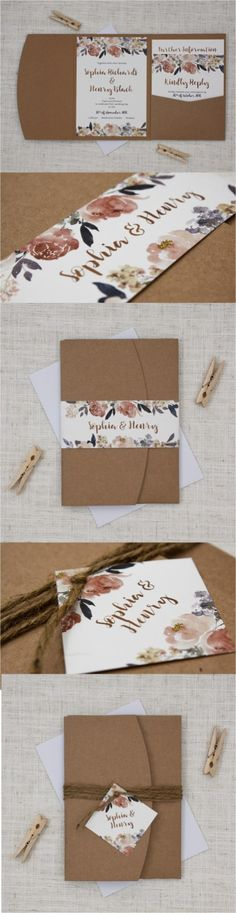 Rustic Wedding Invitation (4)