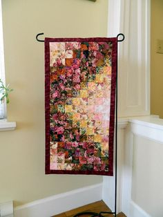 Down the Garden Path quilted table runner/wall hanging