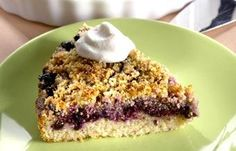 Helppo ja maukas marjapiirakka muruseoksella kuorrutettuna. Grains, Blueberry Pies, Recipes, Food, Blueberry Tarts, Eten, Recipies, Ripped Recipes, Seeds