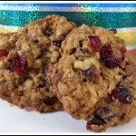 Outrageous Cranberry-Walnut Oatmeal Cookies- healthy style. put less butter and replace with apple sauce