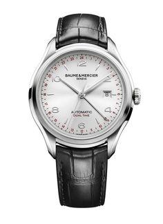 Baume & Mercier Clifton GMT é um relógio funcional, equipado com função GMT. Ele conta com um visual atrativo e é equipado com um movimento ETA 2893-3. Tem preço de US$ 3 mil.
