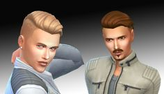 Sims 4 CC's - The Best: Shaved Silk Wavy Hair by Kiara24