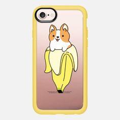 Casetify iPhone 7 Classic Grip Case - Banana Corgi by Mint Corner