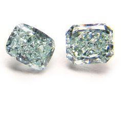 Beautiful Green Colored Diamond Earrings Proving Size Does Matter! haha -ShazB