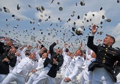 Newly commissioned Navy and Marine Corps officers toss their hats during  the U.S. Naval Academy Class of 2011 graduation and commissioning  ceremony.  U.S. Navy photo by Mass Communication Specialist 1st Class Chad Runge
