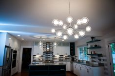 Lighting for the kitchen eating area. #designideas