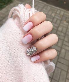 #омбре #нежныйманикюр #стразы #ногти #дизайнногтей #nails #manicure #ombre