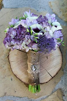 Burlap Ring Bearer Pillow Rustic Wedding Purple Radiant Orchid Summer Spring Garden Outdoor