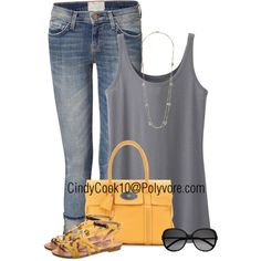 Cropped Jeans and Tank