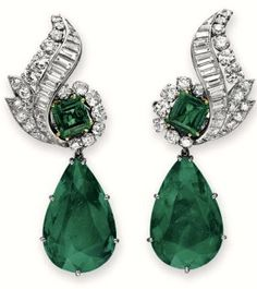 Emerald Ear Pendants