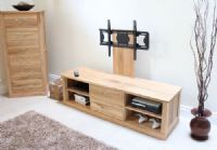 baumhaus mobel oak 2 drawer tv cabinet widescreen stand with adjustable bracket flat screen tv stands