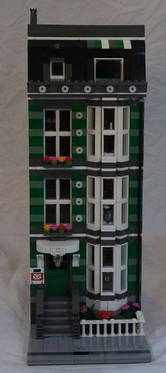 Green Town House | A Pet Shop, Brown-stone Town House MOC va… | Flickr