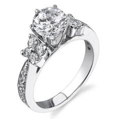 http://www.bloomingbeautyring.com/4-prongs-vs-6-prongs/ A Beautiful engagement ring crafted from white gold available in 4 prongs or 6 prongs