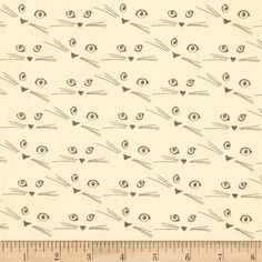 "Michael Miller The Highlands Cattitude Cocoa from @fabricdotcom  Designed by Violet craft for Michael Miller, this cotton fabric is part of the ""Farmhouse"" collection. Colors include shades of cream with a yellow undertone and grey."