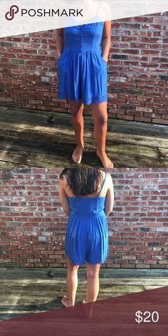 Romper: Never Worn Such a cute romper! Size Medium. True to size! Fun & Flirt Dresses