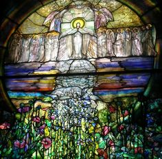 The Flight of Souls - Wade Chapel, Lakeview Cemetery Louis Comfort Tiffany   Iglesia St. Paul. Franklin. Tenesse. USA.
