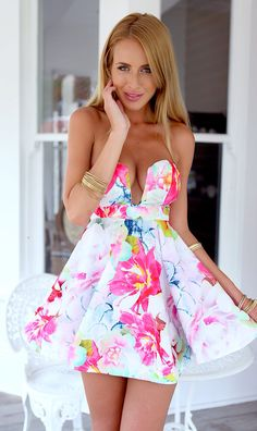 Love this summery dress from Mura Boutique