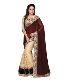 Saree of which show Indian Traditional from its glamorous look. Make your diva style by draping this Party wear Saree. This Saree Worked Net is a perfect fit for all parties Net Saree, Georgette Sarees, Fancy Sarees, Party Wear Sarees, Buy Sarees Online, Blouse Online, Stylish Sarees, Bollywood Saree, Bollywood Wedding