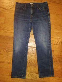 51a0a722112 Levi s 515 Boot Cut Straight Womens Blue Jeans Size 10P M Levis 10  Levis