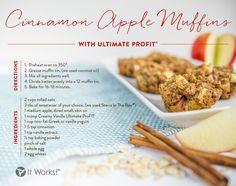 It's all or muffin when it comes to month end and this is one Shake [OR BOGO ProFIT😉] recipe you just gotta get your hands on! Bake up some of these yummy breakfast treats so you can get GOing this morning and chase after those end-of-month 🏃! Protein Shake Recipes, Protein Foods, Protein Shakes, Protein Muffins, Vegan Protein, Apple Cinnamon Muffins, Cinnamon Apples, Profit Recipes, It Works Shakes