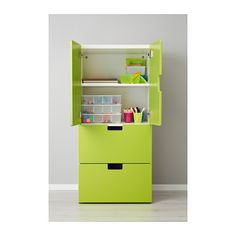 STUVA Combi rgt portes/tiroirs - blanc/vert - IKEA